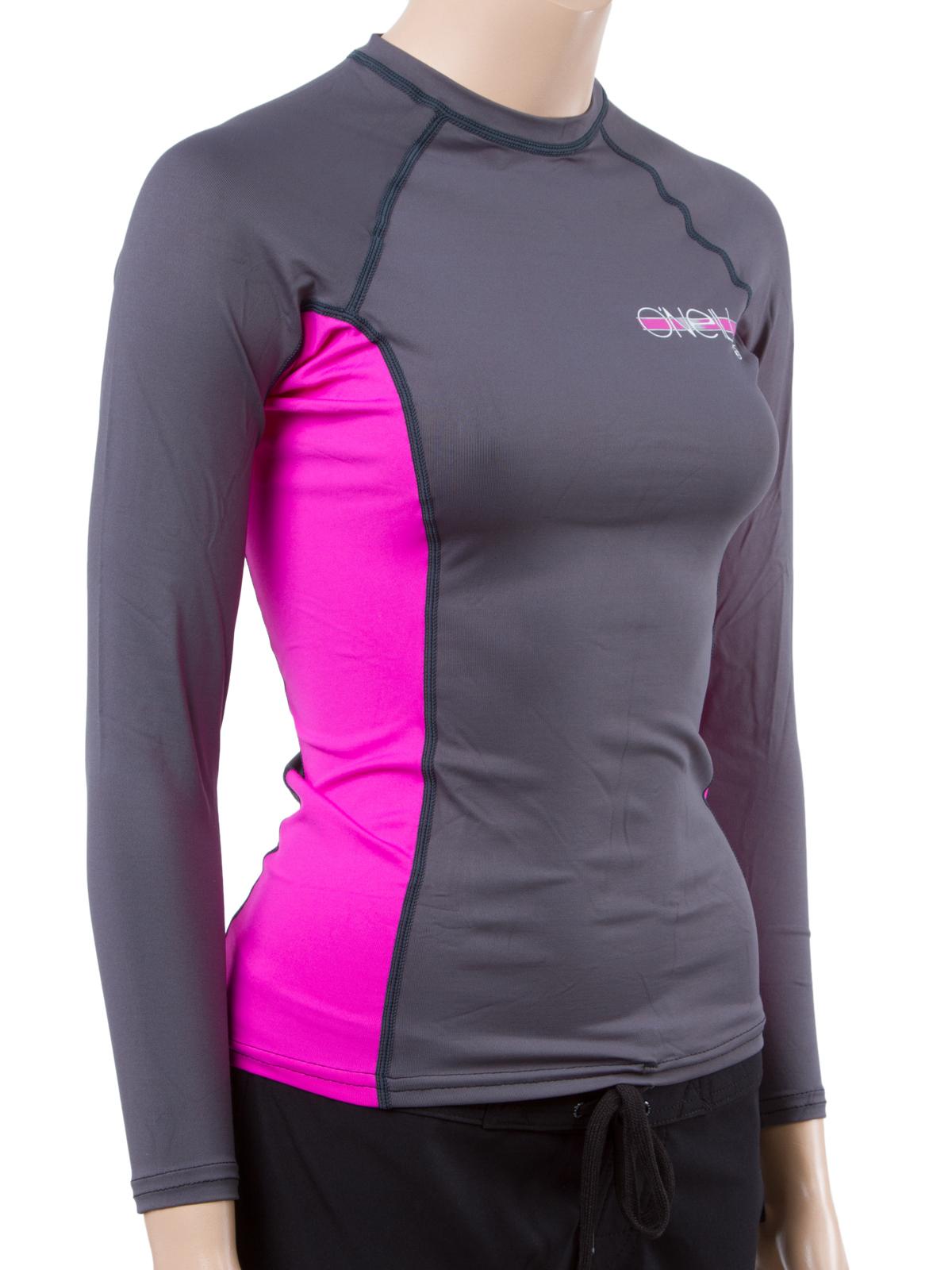 O 39 neill women 39 s long sleeve rashguard lycra shirt with 50 for Womens rash guard shirts