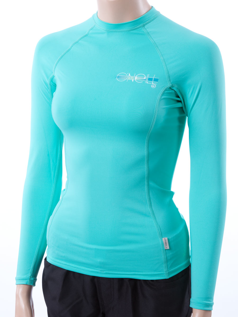 o 39 neill women 39 s long sleeve rashguard lycra shirt with 50