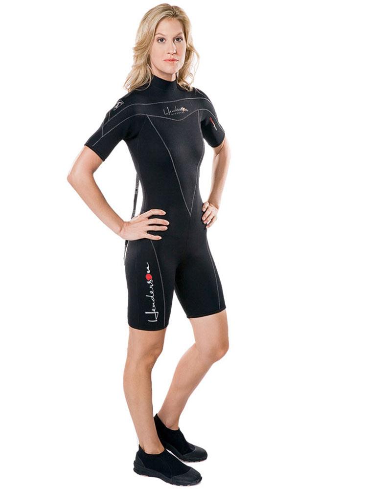 Henderson Thermoprene 3mm shorty womens wetsuit (back zip...
