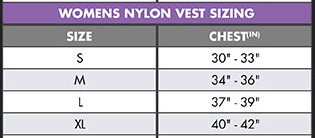 O'Neill Womens Superlite Life Vest Nylon US Coast Guard Approved Lifejacket size chart