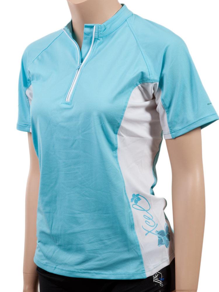 Xcel Bamboo Ventx Womens Shortsleeve Zip Neck Sun Shirt Uv