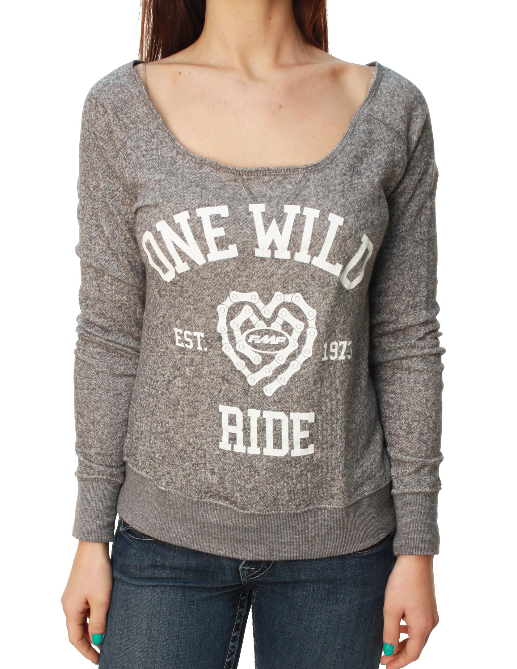 FMF Racing Women's Wild Ride Fleece Scoop Neck Sweater