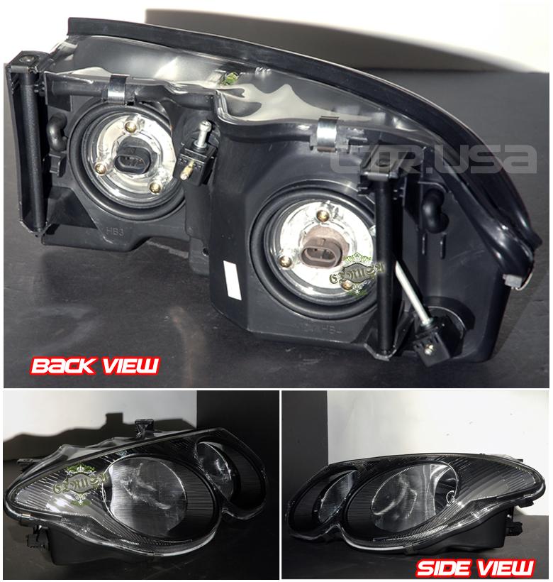 1999-2004 Chrysler 300M Factory OE Style Black Headlights