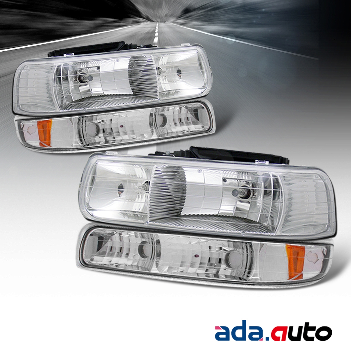1999 2002 chevy silverado 00 06 tahoe suburban chrome headlights bumper ls ebay