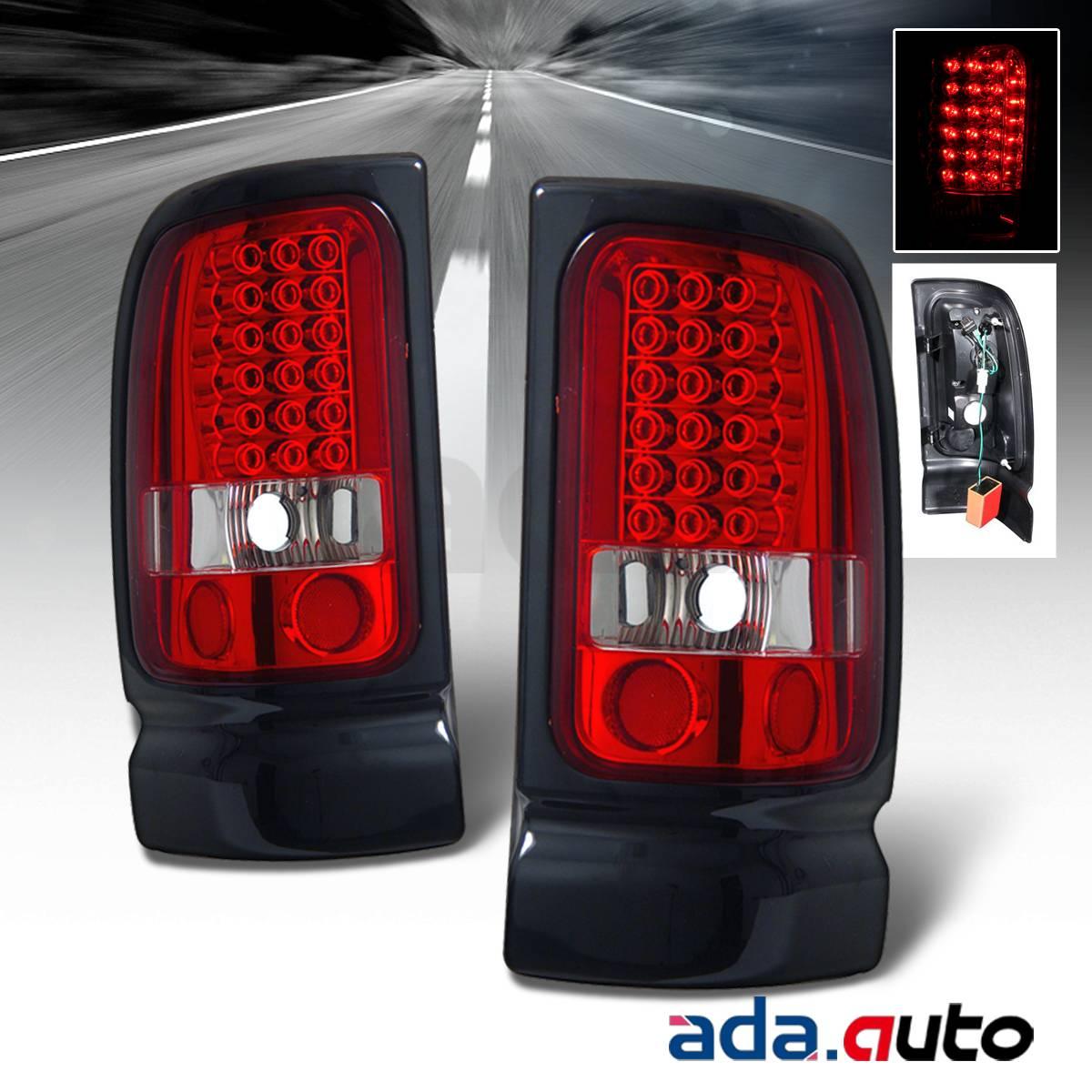 1994 2001 dodge ram 1500 2500 3500 red led tail lights. Black Bedroom Furniture Sets. Home Design Ideas