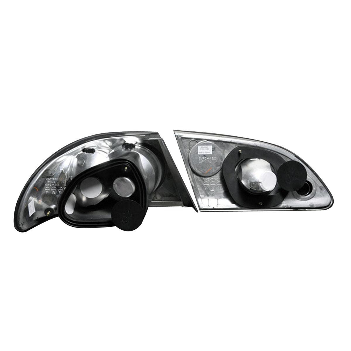 1998 1999 2000 2001 2002 toyota corolla black tail lights set. Black Bedroom Furniture Sets. Home Design Ideas