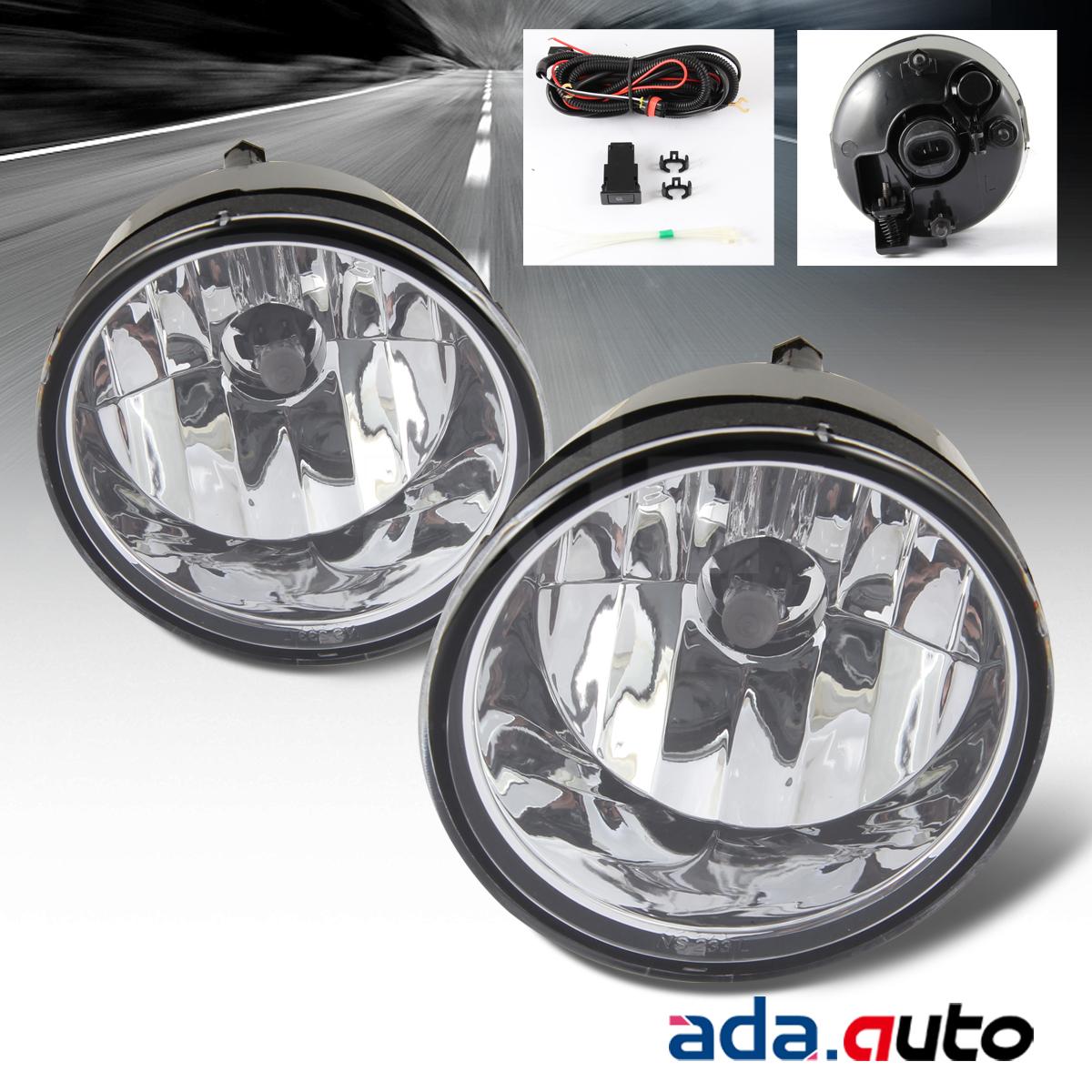 For  nissan titan armada clear fog lights pair