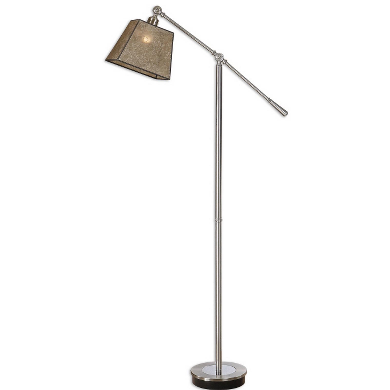 uttermost biella chrome swing arm floor lamp ebay. Black Bedroom Furniture Sets. Home Design Ideas