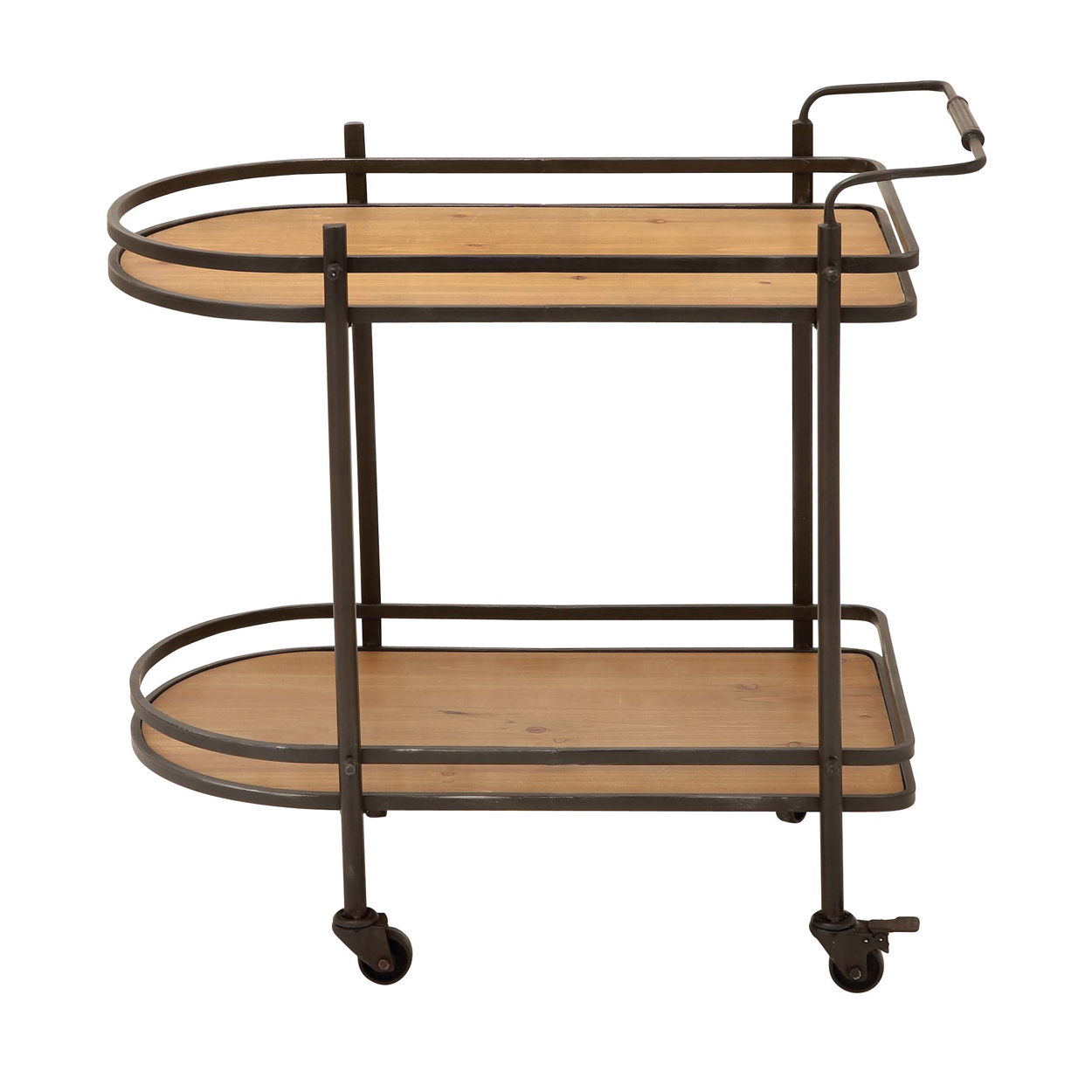 Contemporary Rolling Mobile Tea Serving And Kitchen Bar Cart Ebay