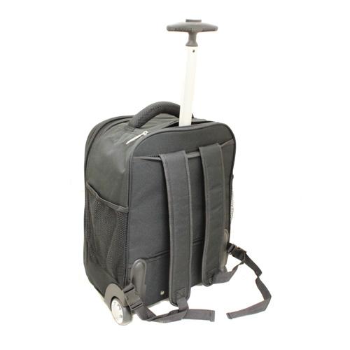 Kemyer Lightweight 17 Laptop Computer Rolling Backpack   Black