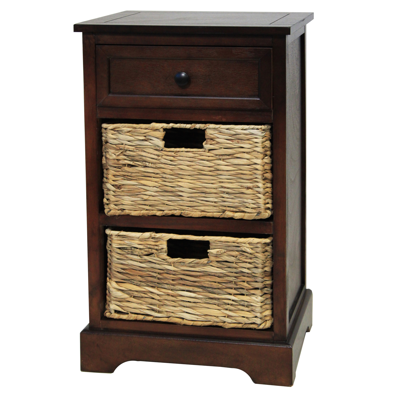 urban designs malibu 3 drawer night stand with wicker. Black Bedroom Furniture Sets. Home Design Ideas