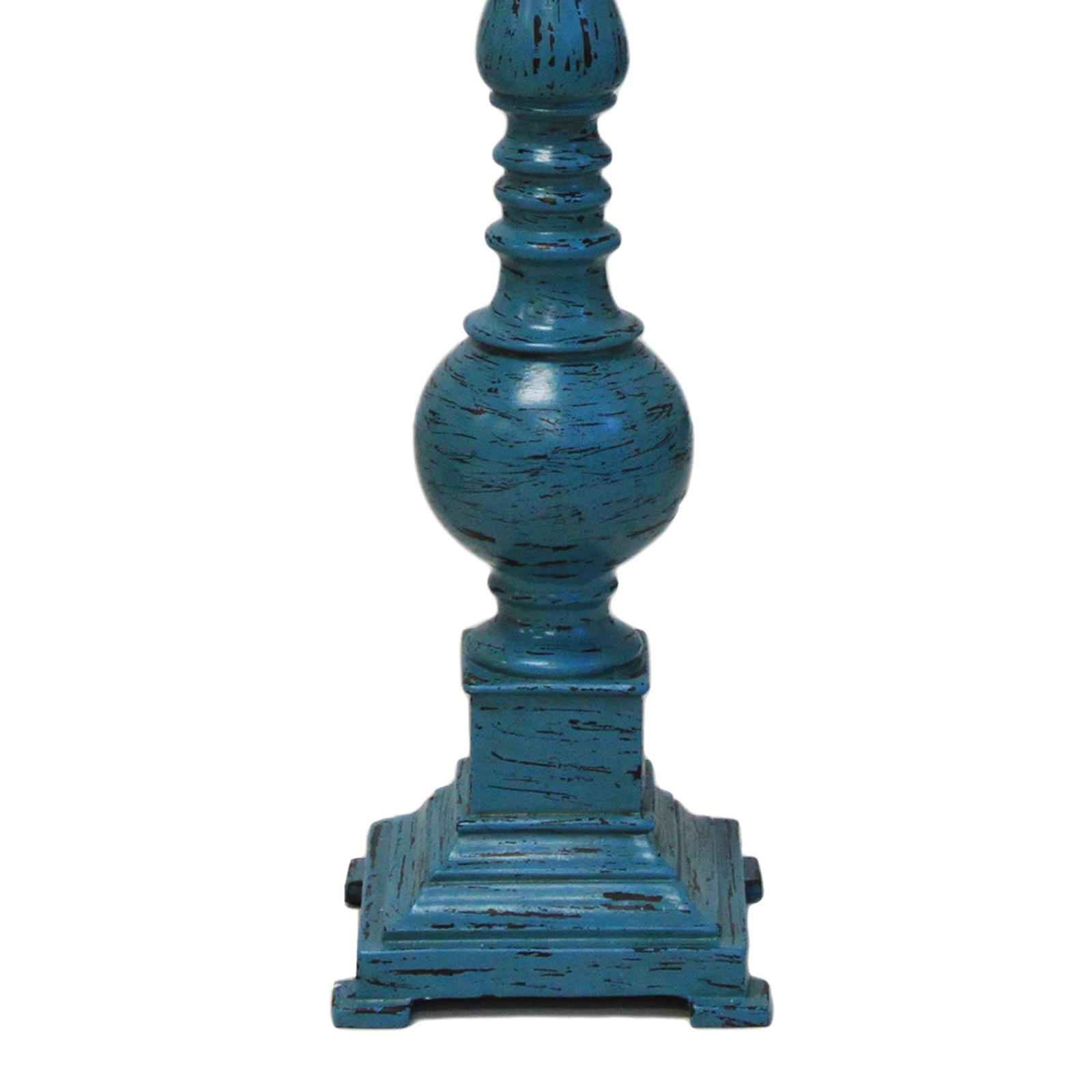 "Chateau Pedestal Lantern Nickel: Urban Designs Kerry Distressed Blue Polystone 31"" Pedestal"
