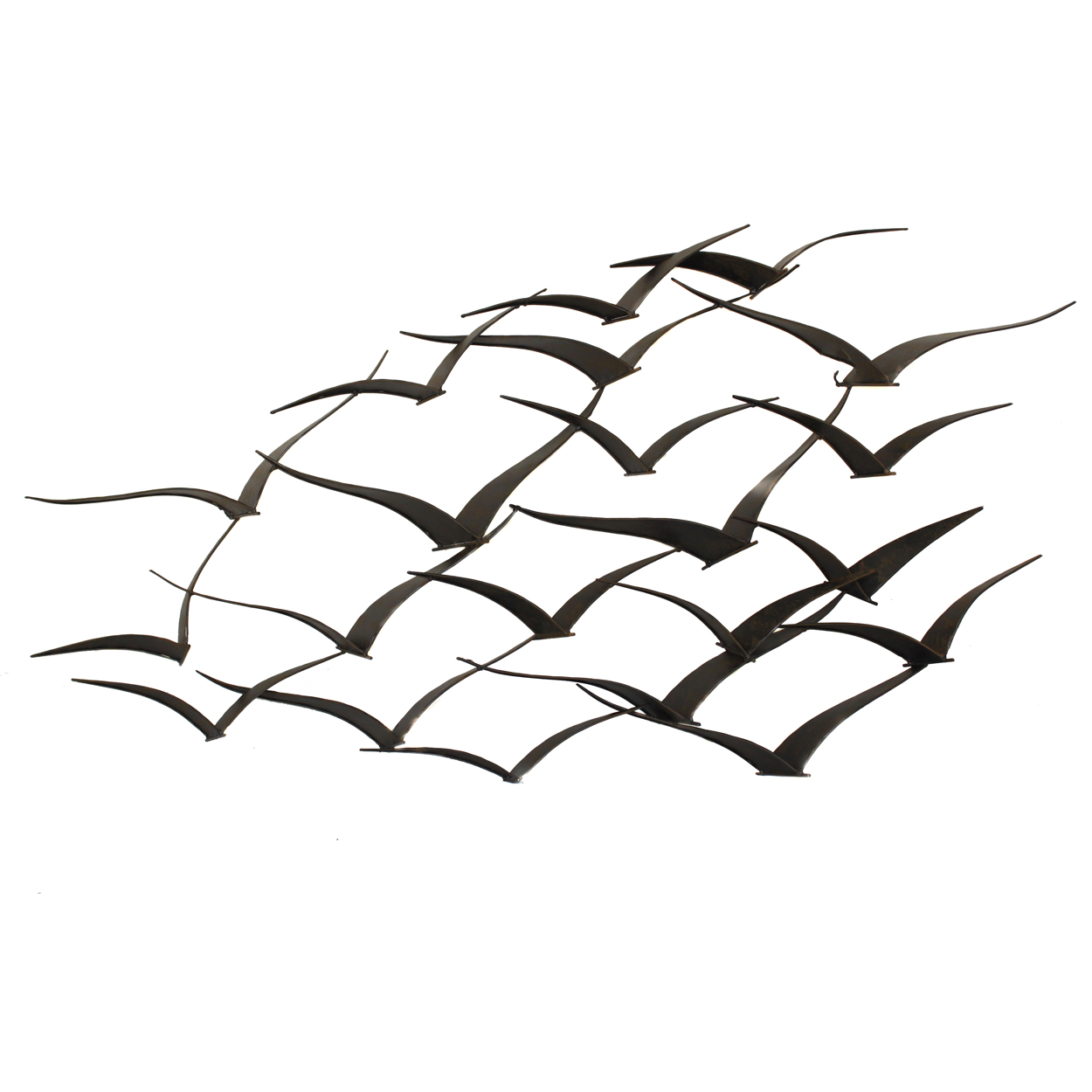 Metal Bird Wall Decor Target : Urban designs handcrafted flock of birds metal wall art