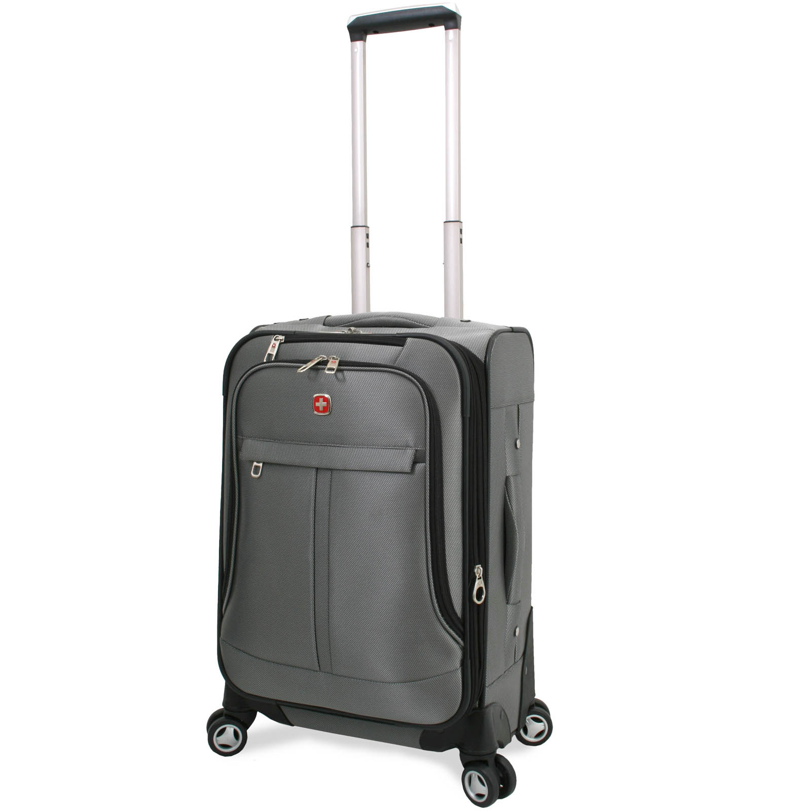 Wenger Swiss Alps 20-Inch Expandable Carry-On Spinner Upright Suitcase Luggage - Pewter at Sears.com