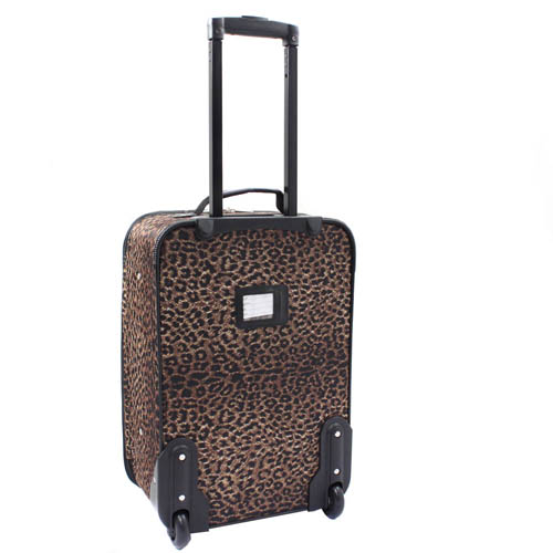 Rockland Rio Upright Carry On & Tote 2 Piece Luggage Set   Pink