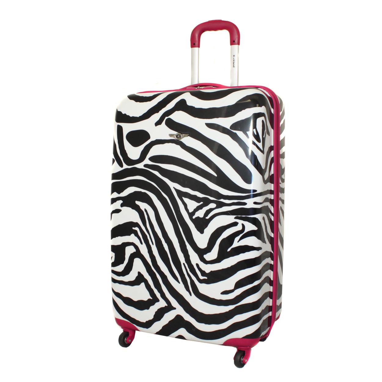 "Rockland 28"" Lightweight Hardside Spinner Upright Luggage Suitcase - Pink Zebra at Sears.com"
