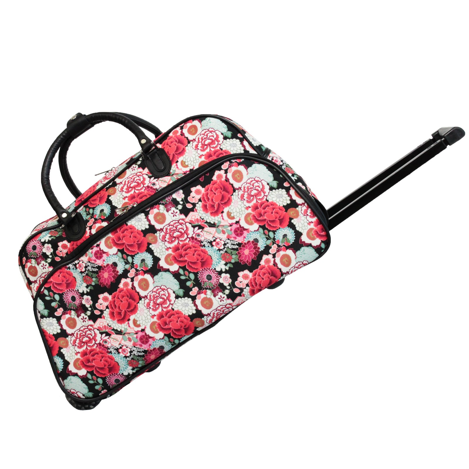 World Traveler Flowers 21-inch Carry-On Rolling Duffle Bag | EBay