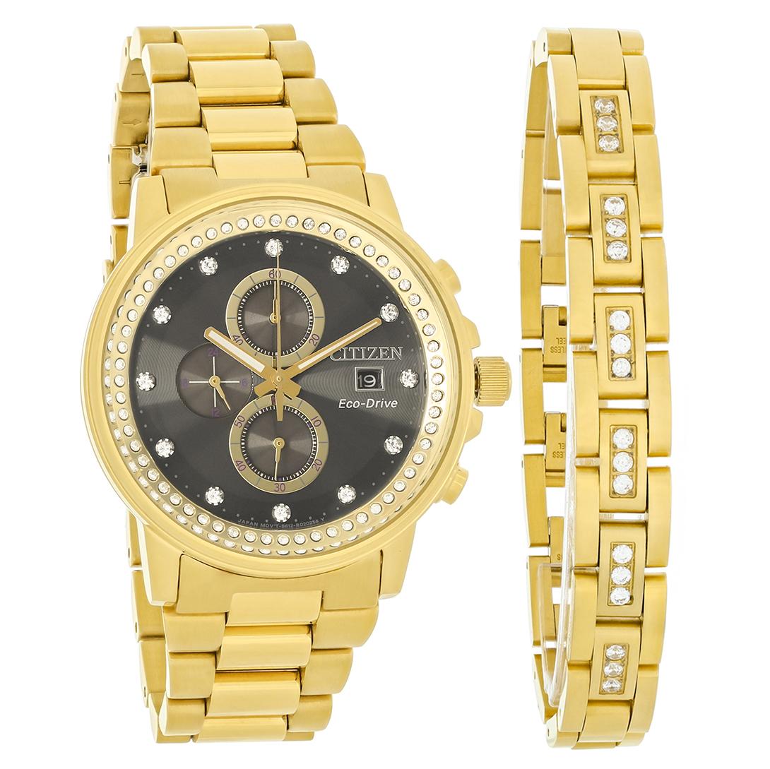 citizen eco drive nighthawk mens gold tone bracelet