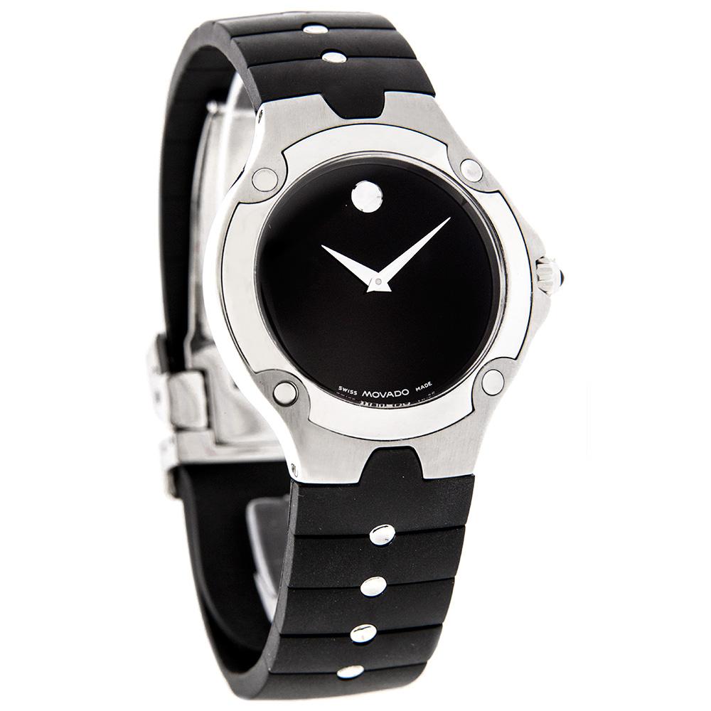 Rubber Rings For Men >> Movado S.E. Sports Edition Mens Rubber Band Swiss Quartz Watch 0604591 | eBay
