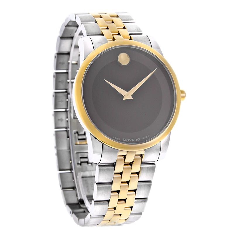 movado mens museum series black dial two tone swiss quartz watch movado mens museum series black dial two tone swiss quartz watch 0606605