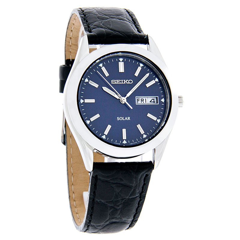 seiko watches for mens leather band