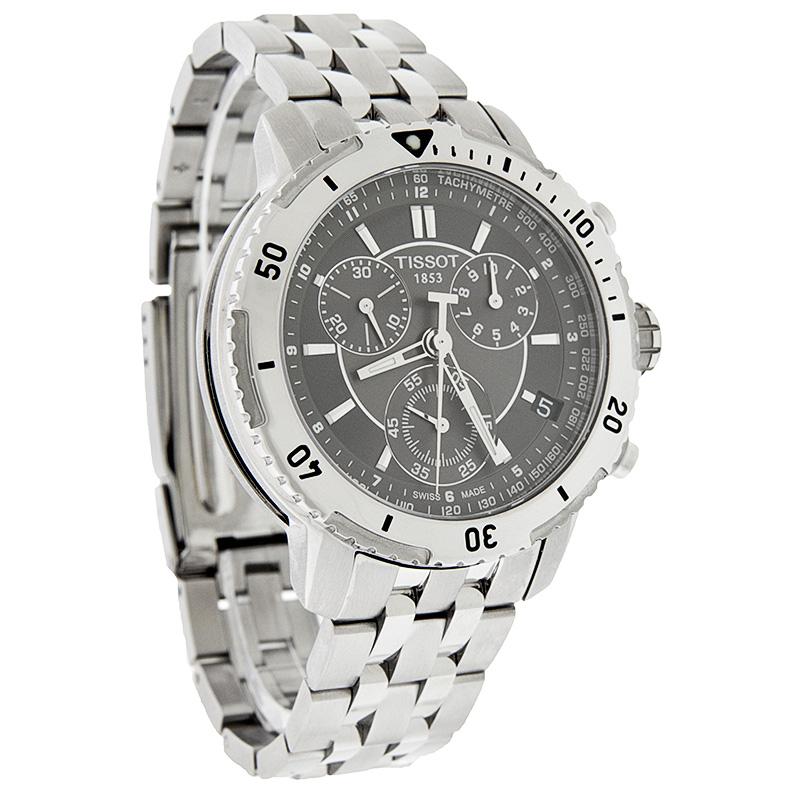 tissot prs 200 chronograph mens swiss quartz watch t067. Black Bedroom Furniture Sets. Home Design Ideas