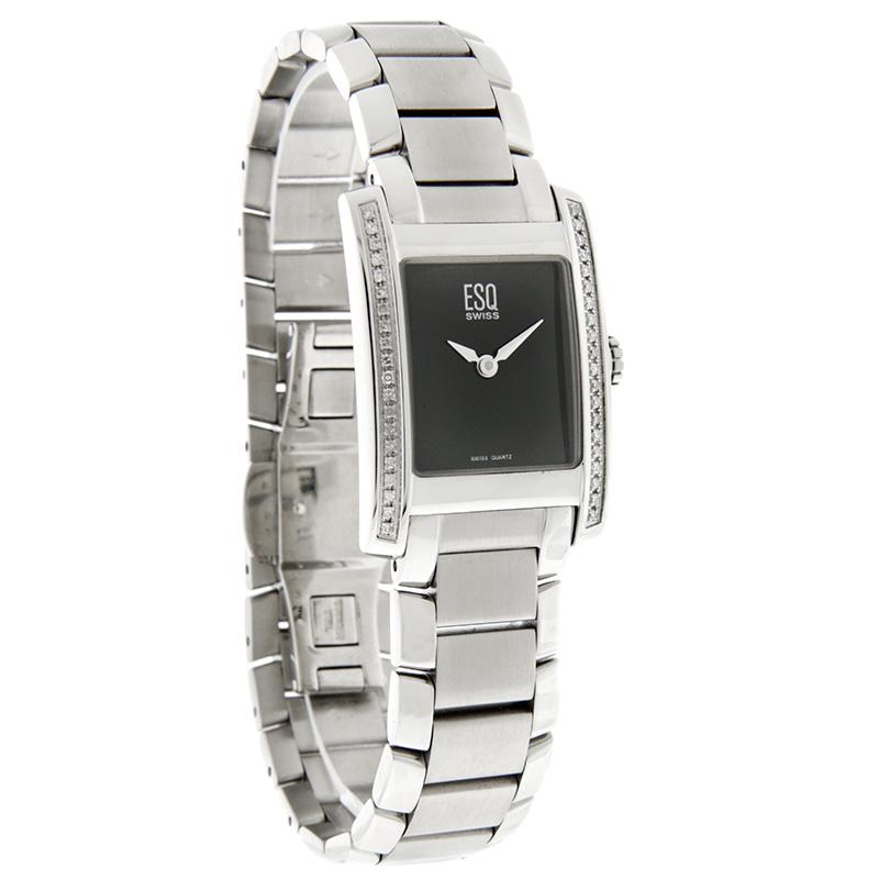 esq by movado venture diamond ladies swiss quartz watch. Black Bedroom Furniture Sets. Home Design Ideas