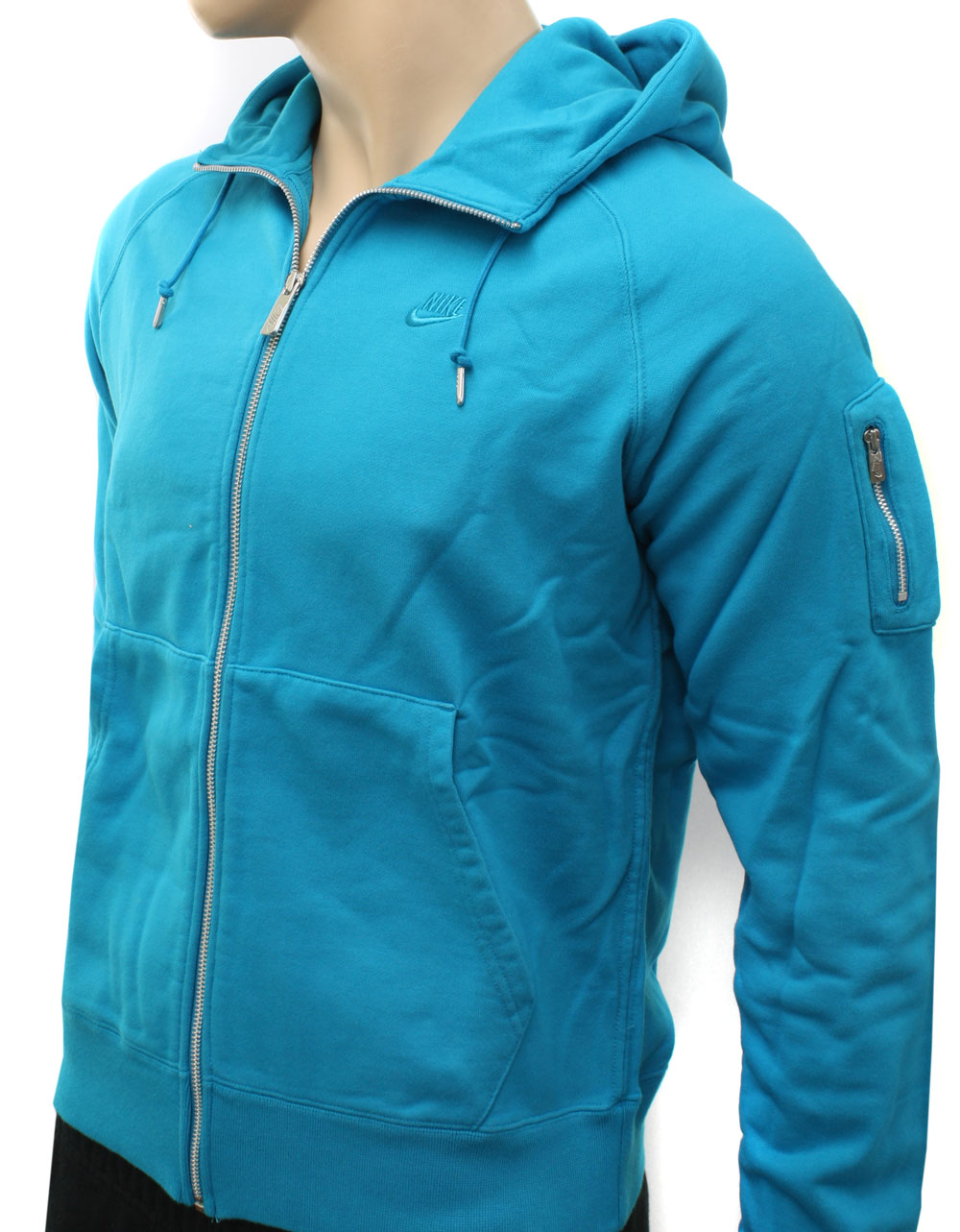 new nike mens turquoise aw 77 stadium hooded zip. Black Bedroom Furniture Sets. Home Design Ideas