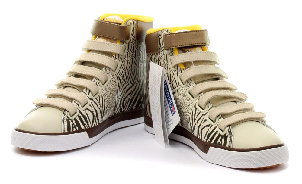 reebok classic straptastik mid zebra print womens trainers. Black Bedroom Furniture Sets. Home Design Ideas
