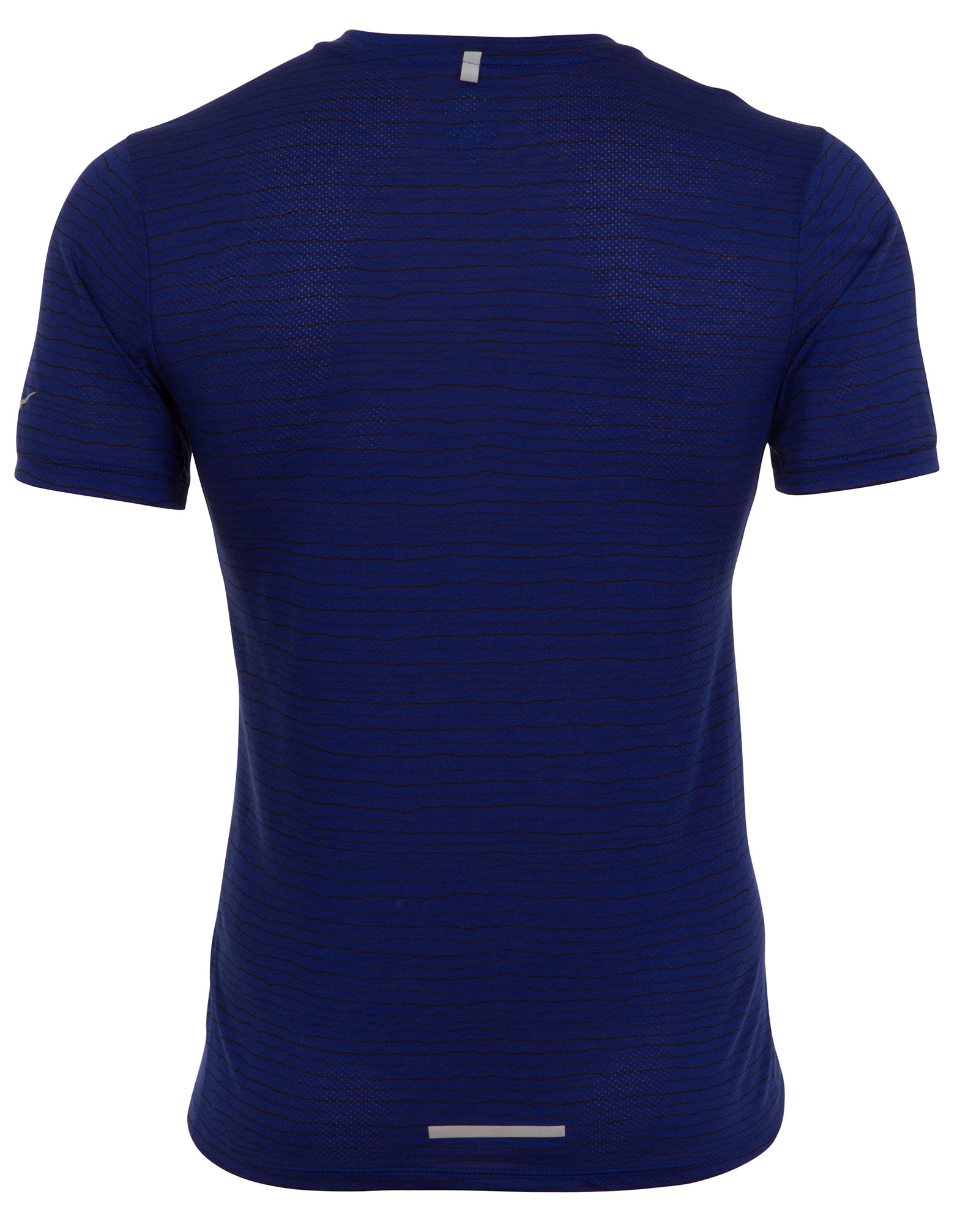 Nike dri fit cool tailwind stripe blue mens running t for Dri fit dress shirts
