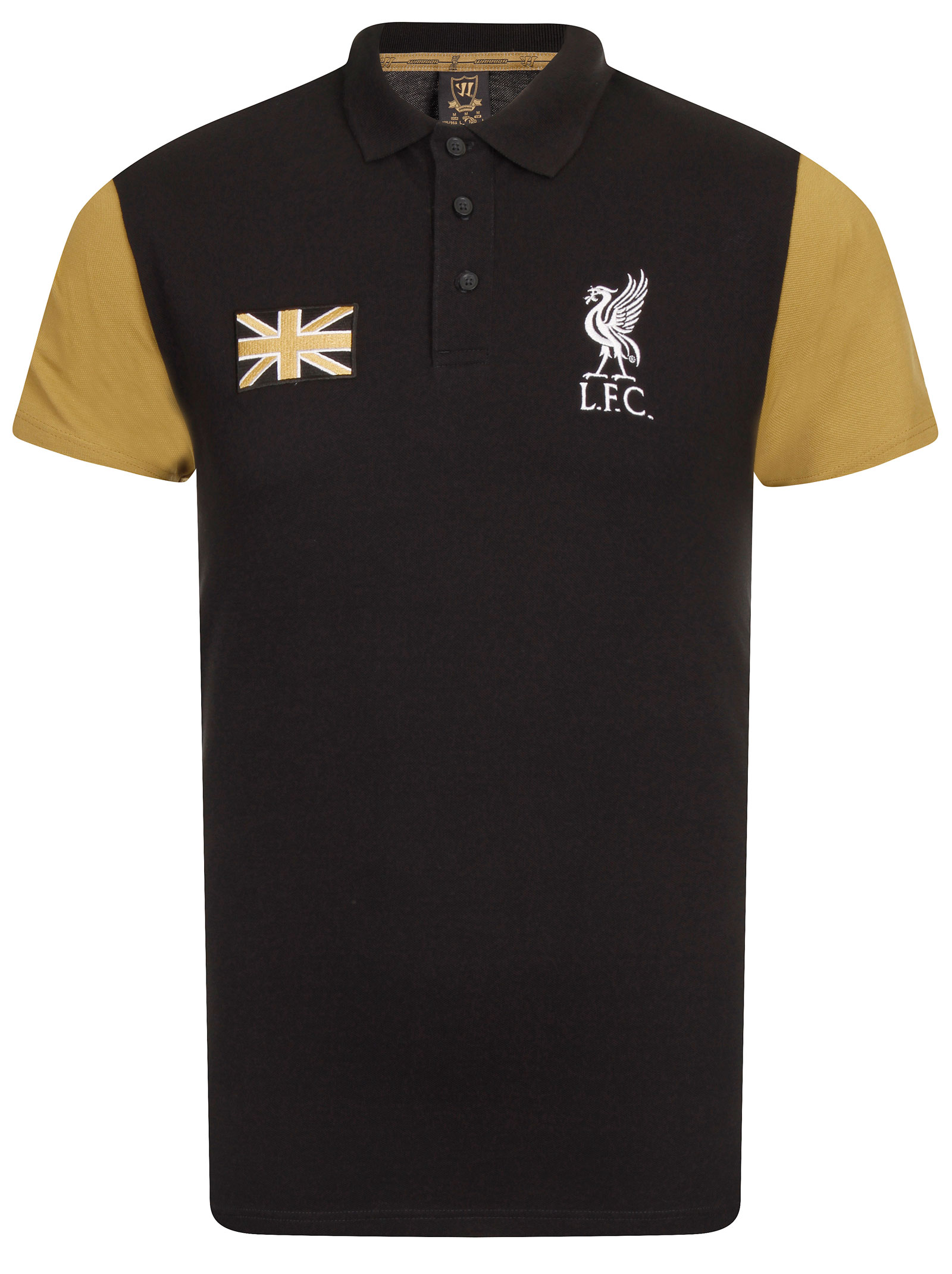warrior mens official 2014 15 liverpool lfc union black polo shirt all sizes ebay. Black Bedroom Furniture Sets. Home Design Ideas