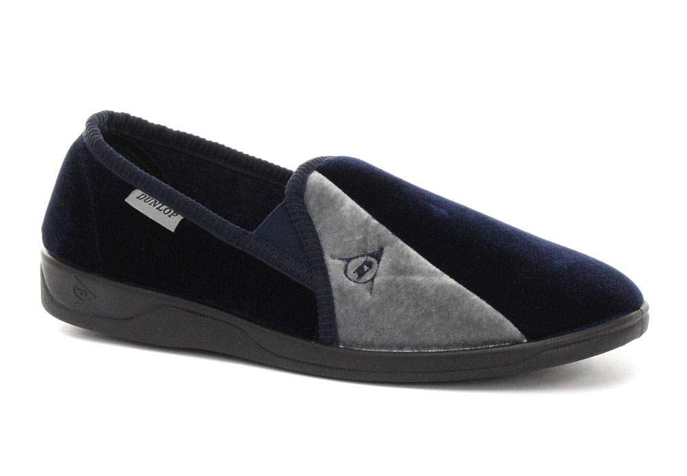 Dunlop-Duncan-Navy-Mens-Slippers-ALL-SIZES