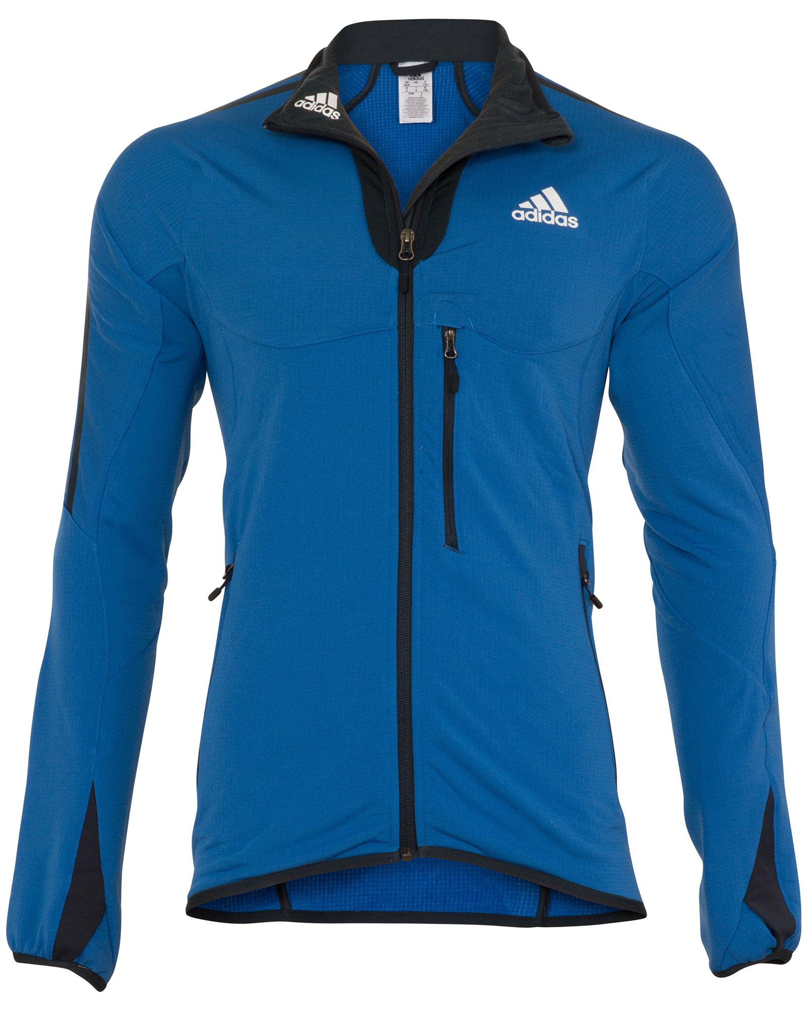 adidas black and blue jacket