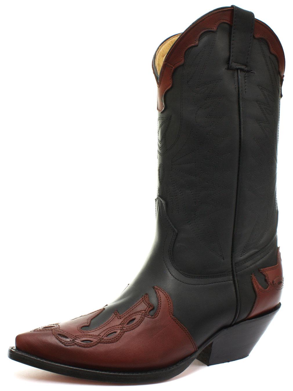 new grinders arizona black burgundy mens cowboy boots all