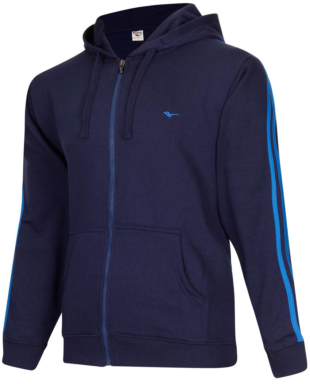 New Gola Sport Mens Navy GSM6134 Zip Hooded Sweatshirt ...