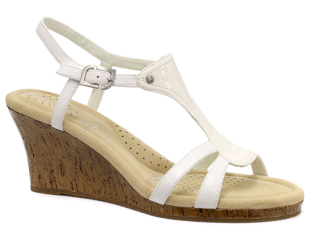 new rockport emily t womens wide fit wedge sandals