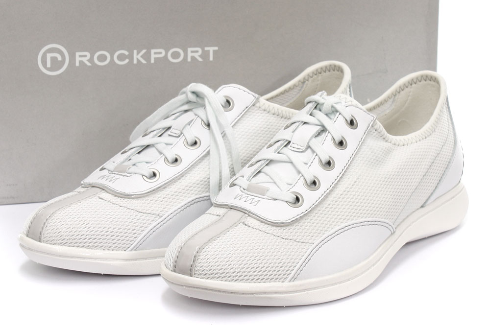 new rockport yezenia white womens lace up shoes all sizes