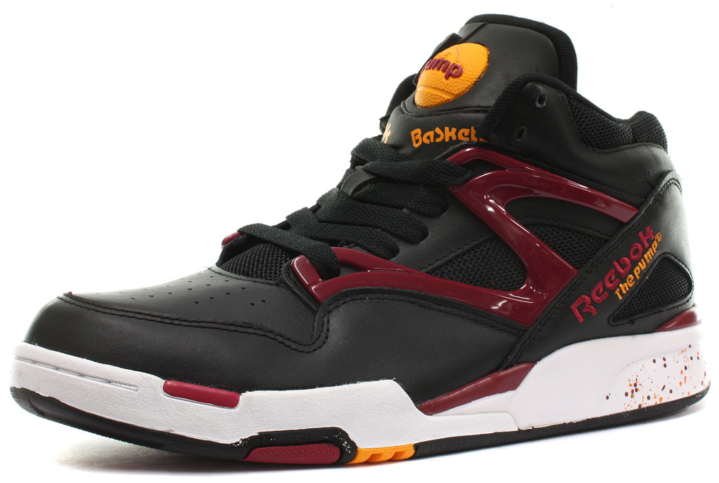 reebok classic pump omni lite black red unisex trainers all sizes ebay. Black Bedroom Furniture Sets. Home Design Ideas