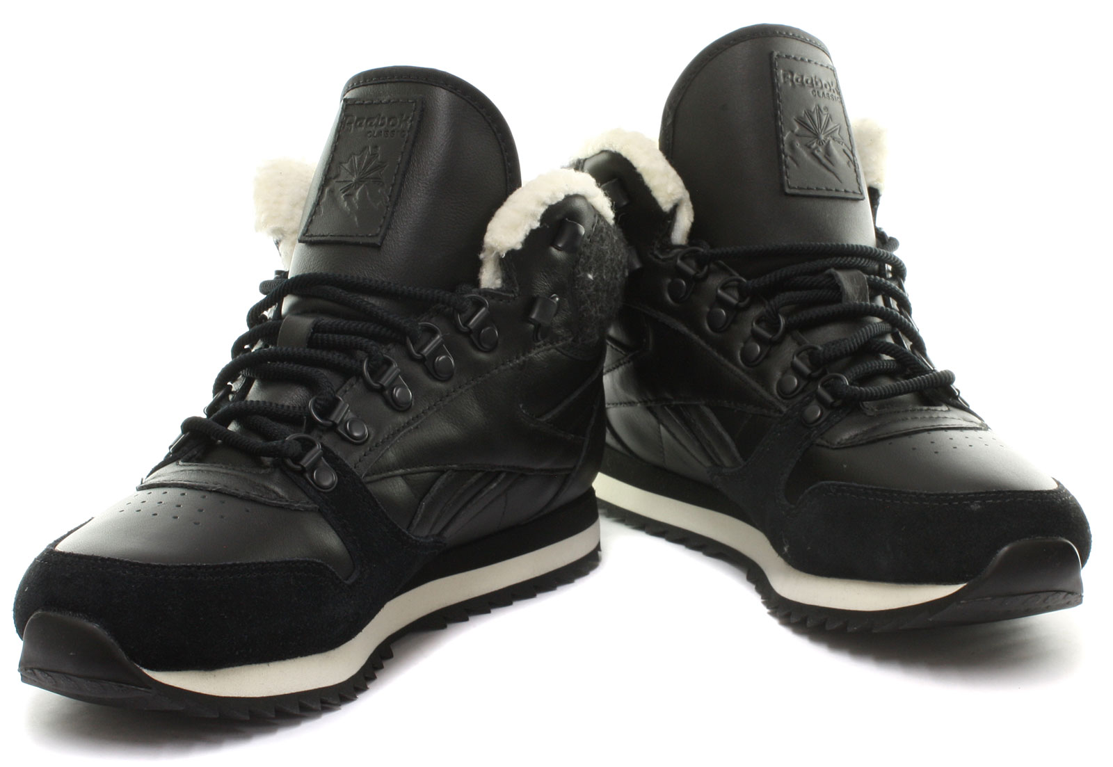 Reebok Classic Leather Mid Winter Wonderland Womens Trainers ALL SIZES