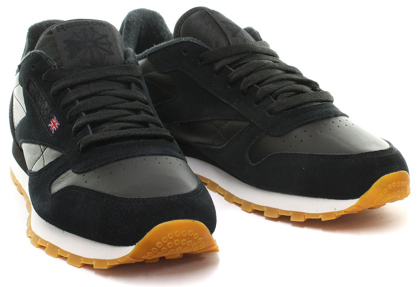 reebok classic leather trainers mens