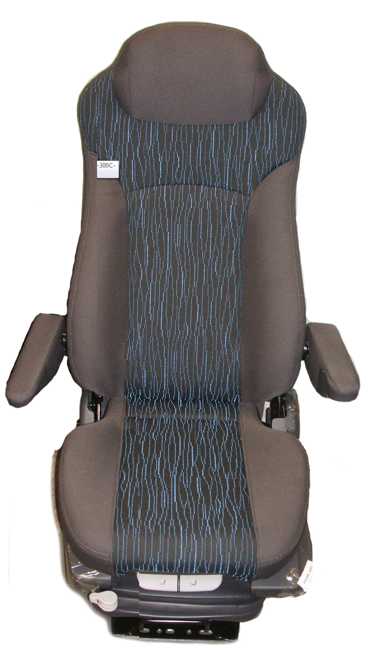Prime Seating 500C Truck Bus Seat Blue Grey Cloth Air Ride Truck Seat