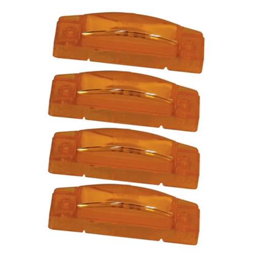 4 grote amber led clearance marker trailer lights ebay. Black Bedroom Furniture Sets. Home Design Ideas