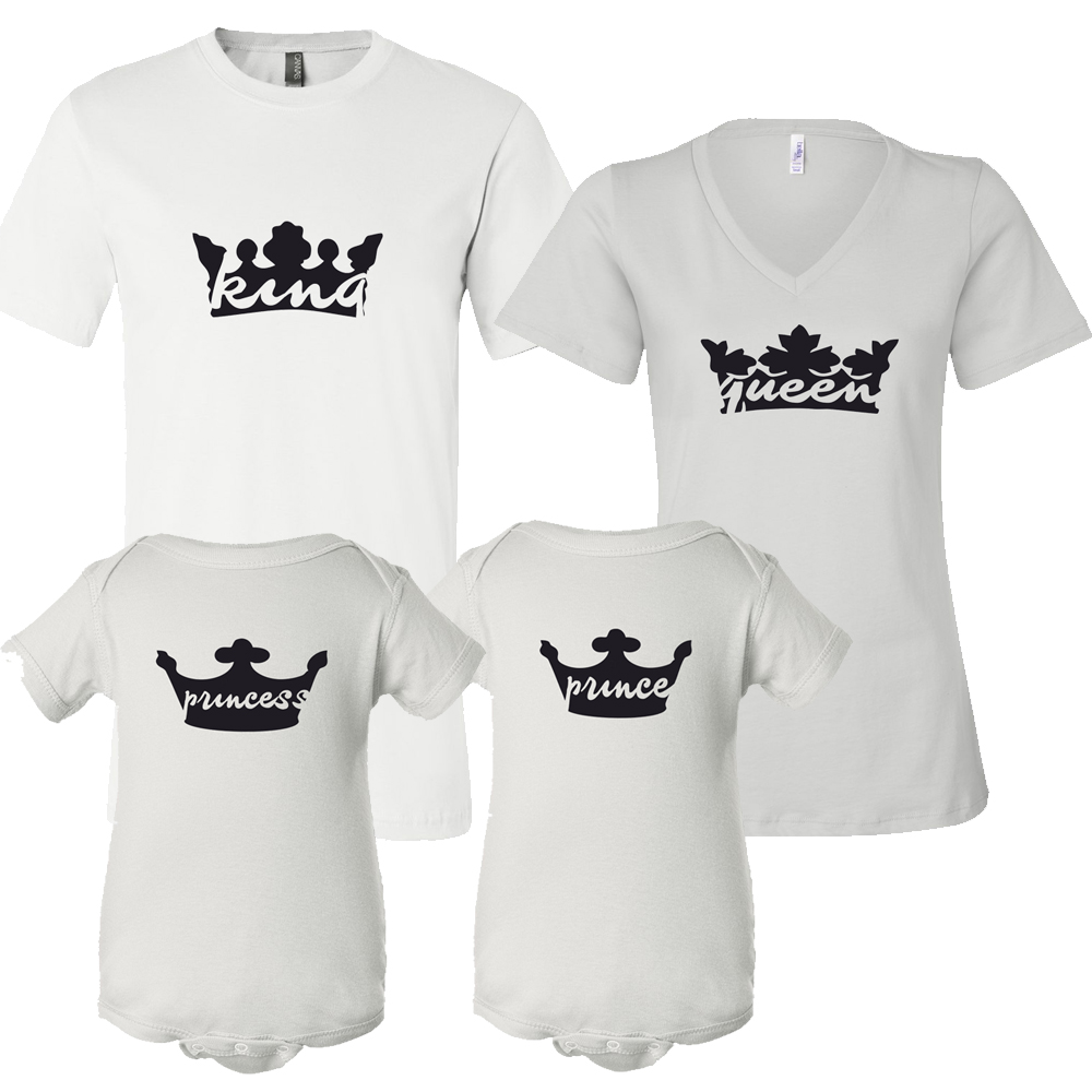 King Queen Prince or Princess Royal Family TShirt Gift Set Baby – Royal Family Baby Announcement