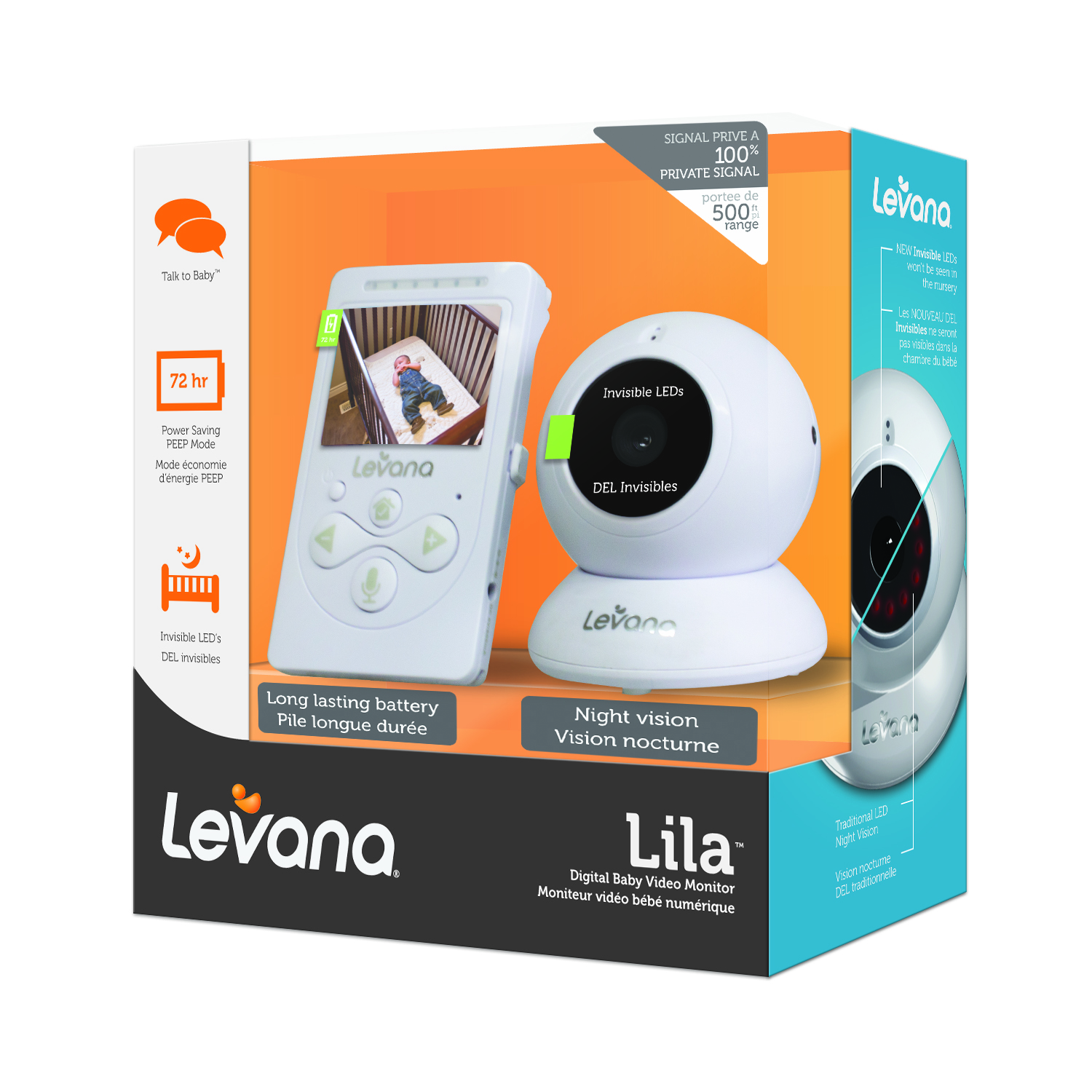 levana digital baby video monitor with night vision and talk to baby intercom. Black Bedroom Furniture Sets. Home Design Ideas