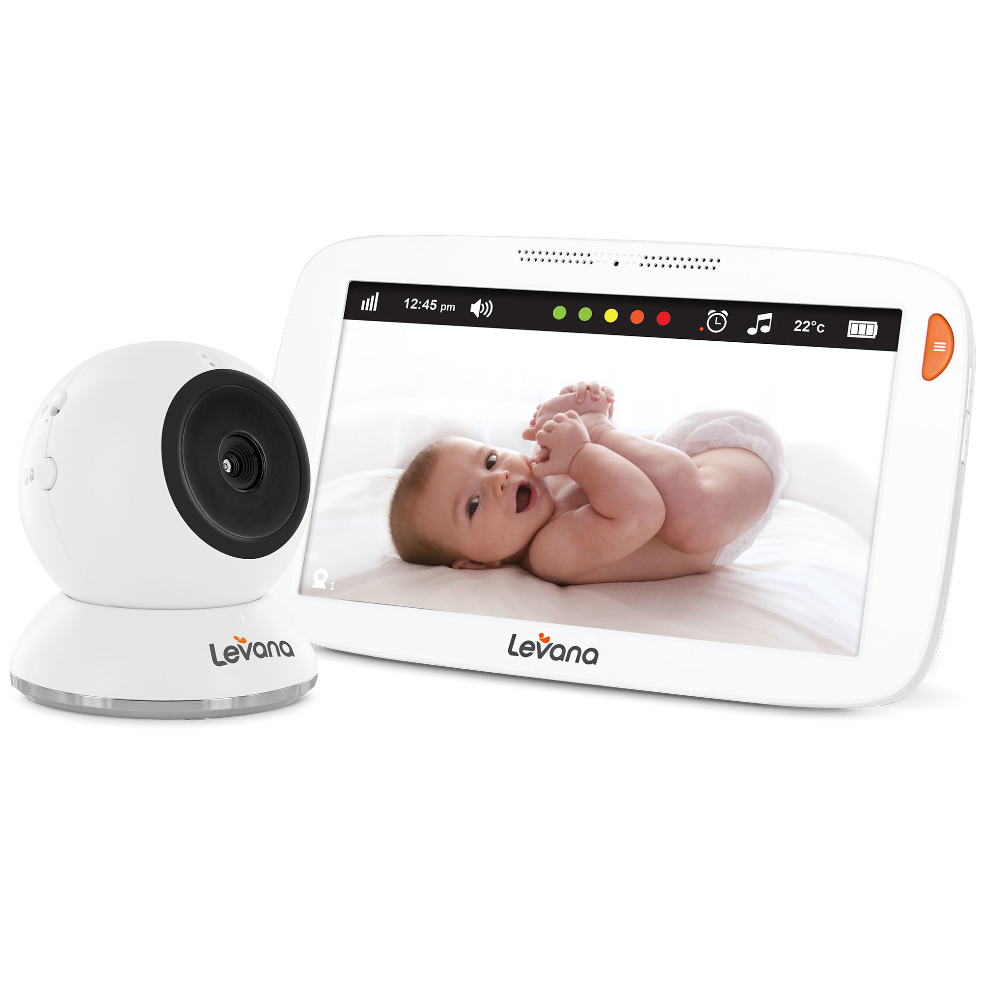 levana amara 7 touchscreen video baby monitor ebay. Black Bedroom Furniture Sets. Home Design Ideas