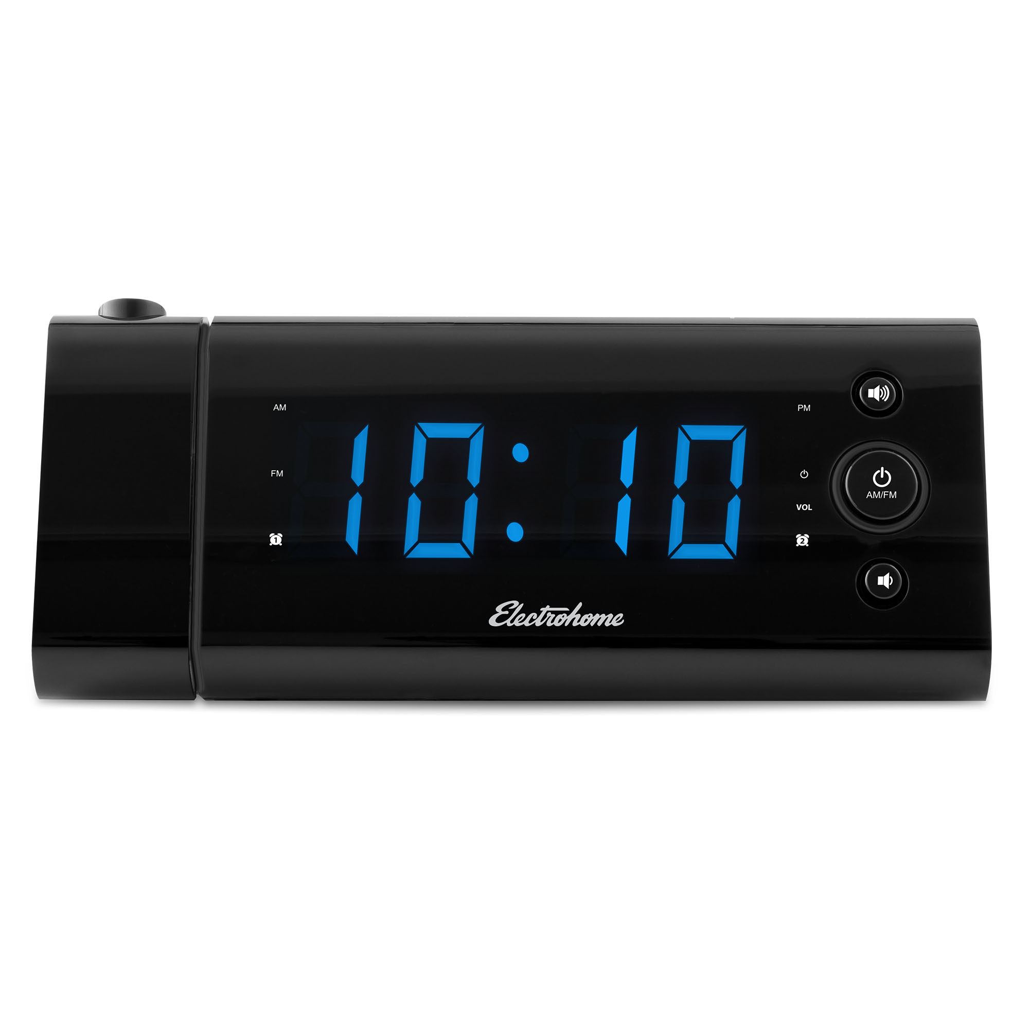electrohome usb charging alarm clock radio with time projection ebay. Black Bedroom Furniture Sets. Home Design Ideas