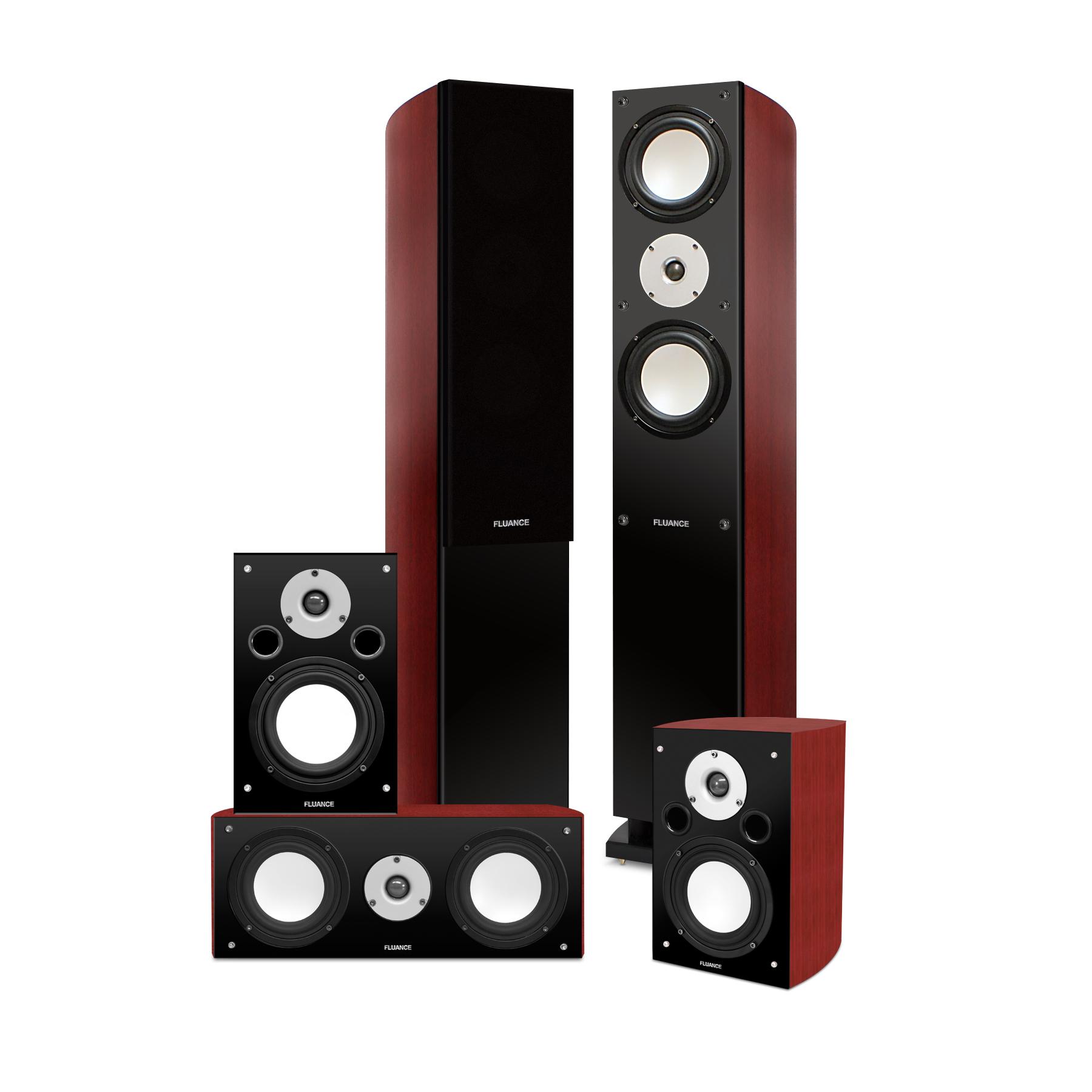 Fluance High Performance 5 Speaker Surround Sound Home Theater System