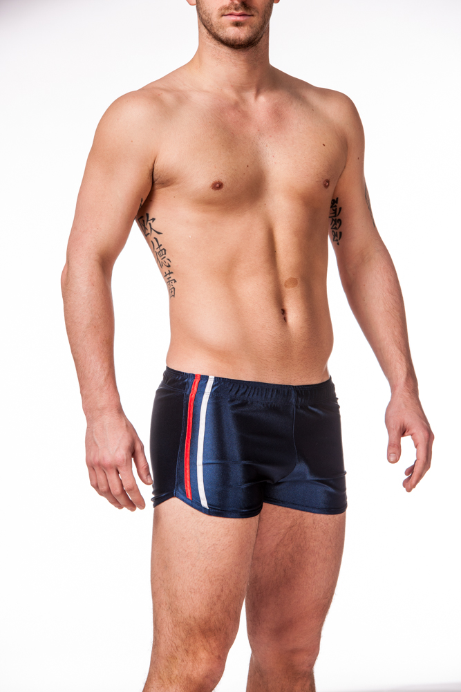 Gary Majdell Sport Men's New Shiny Work Out Dazzle Boxing Shorts by Gary Majdell Sport Navy