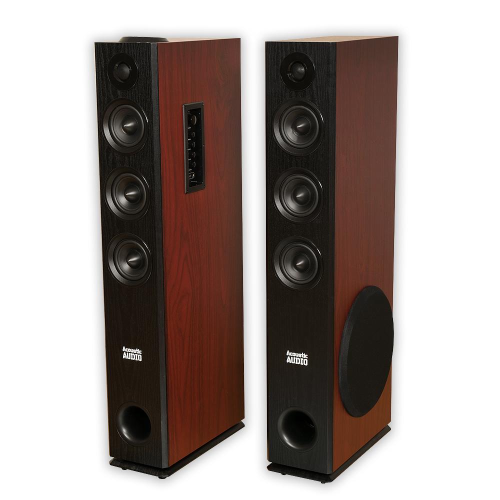 Acoustic Audio TSi550 Bluetooth Powered Floorstanding Tower Home Speaker Pair