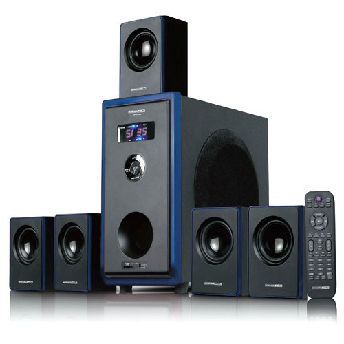 Acoustic Audio AA5102 800W 5.1 Channel Home Theater Surround Sound Speaker System with Bluetooth AA5102B at Sears.com